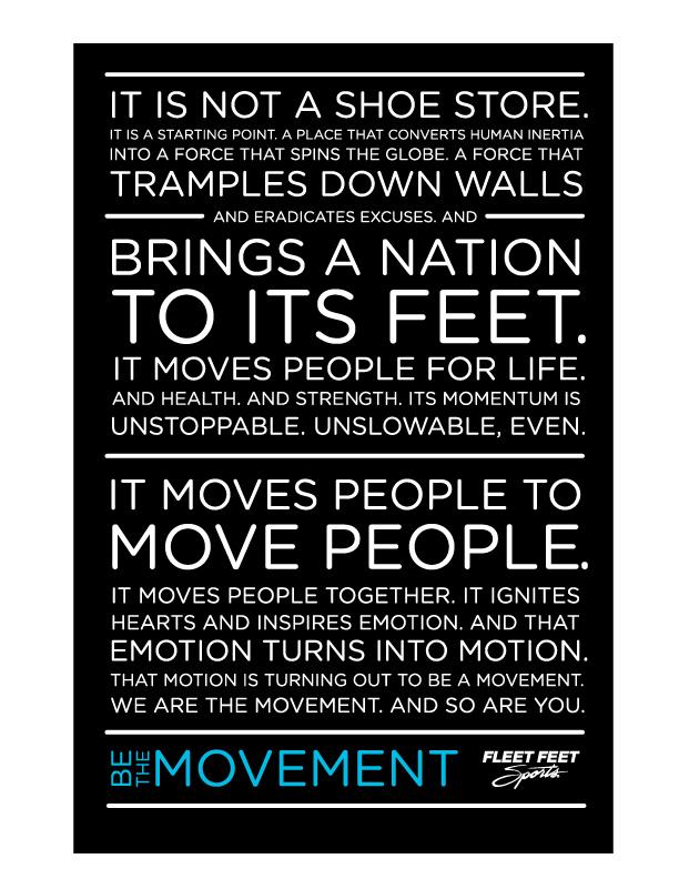 Fleet Feet Sports Manifesto